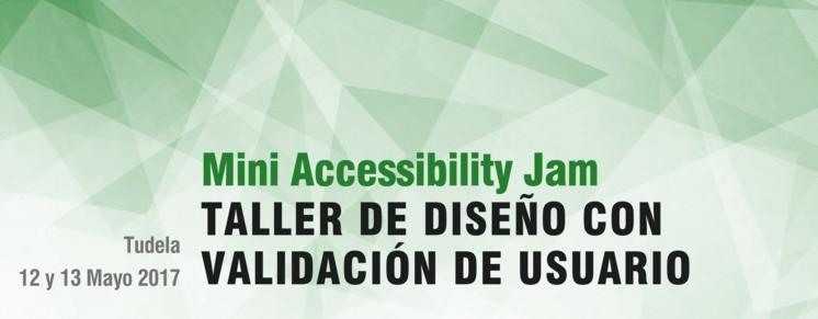 Mini Accessibility Jam Tudela cabecera del cartel